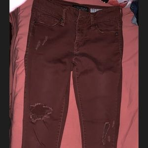 Ripped cropped jeggings